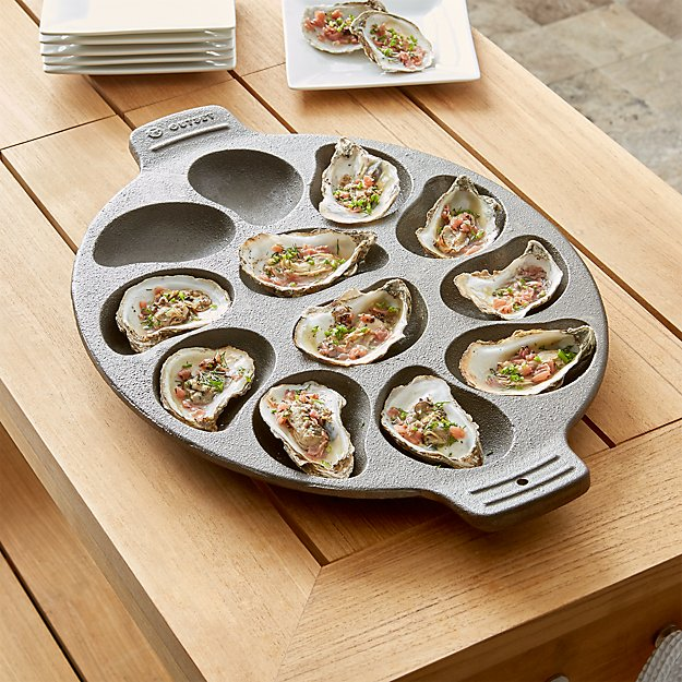 Cast Iron Oyster Pan Reviews Crate And Barrel