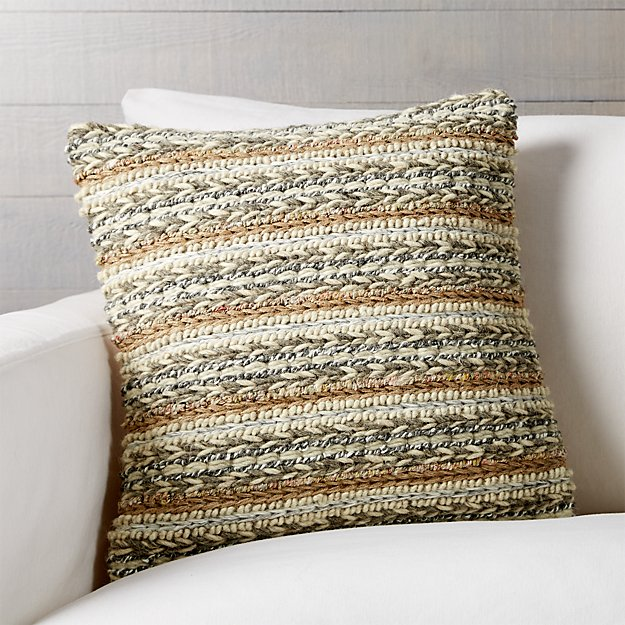 "Ozark 18"" Pillow with Feather-Down Insert"