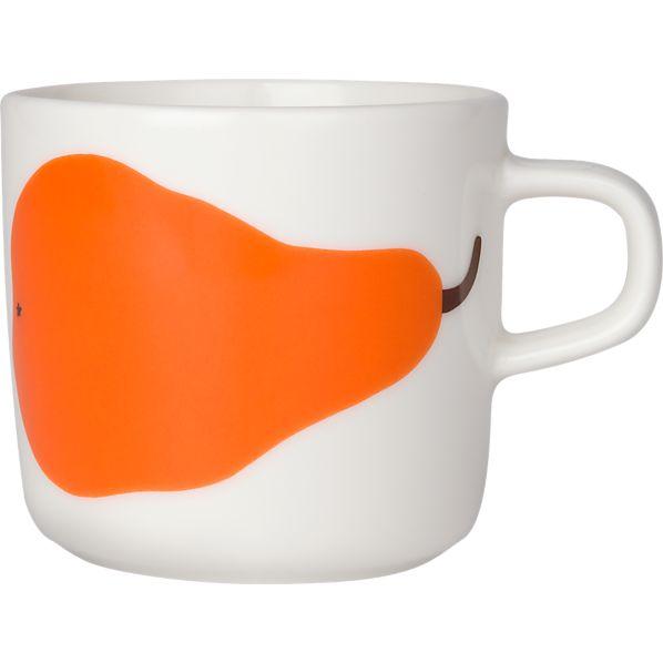 Marimekko Paaryna White and Orange Cup