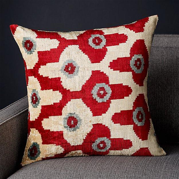 "Paavo Silk Velvet Pillow 20"" - Image 1 of 6"