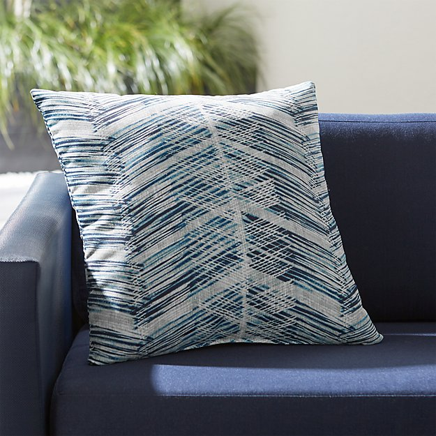 "Painted Chevrons 20"" Sq. Outdoor Pillow"