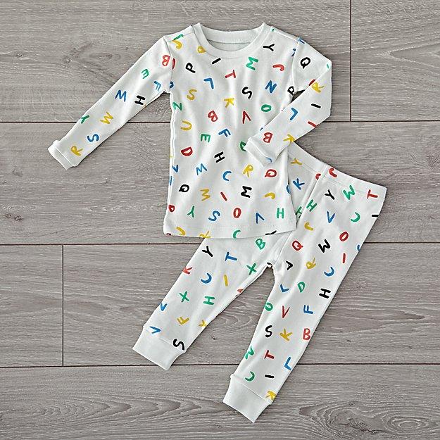4c01e7d7845b Organic Alphabet 6-12 Months Pajamas + Reviews