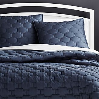 Blue Bedding Crate And Barrel