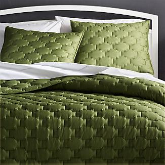 Palazzo Green Quilts and Pillow Shams