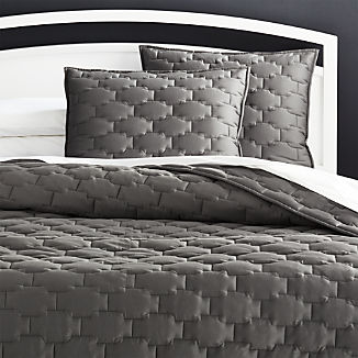 Palazzo Grey Quilts and Pillow Shams