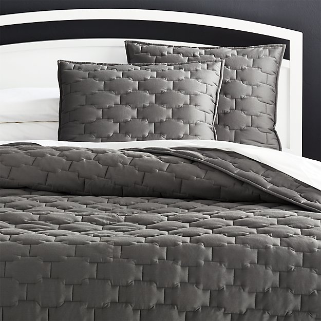 Palazzo Grey Quilt King Reviews Crate And Barrel