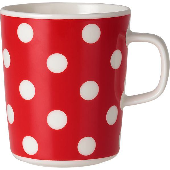 Marimekko Pallo Red and White Mug