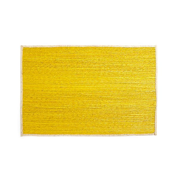 "Palm Yellow 30""x50"" Rug"