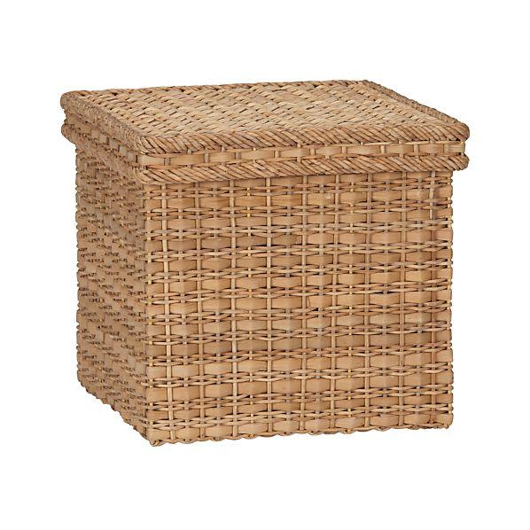 Palma Small Square Lidded Basket