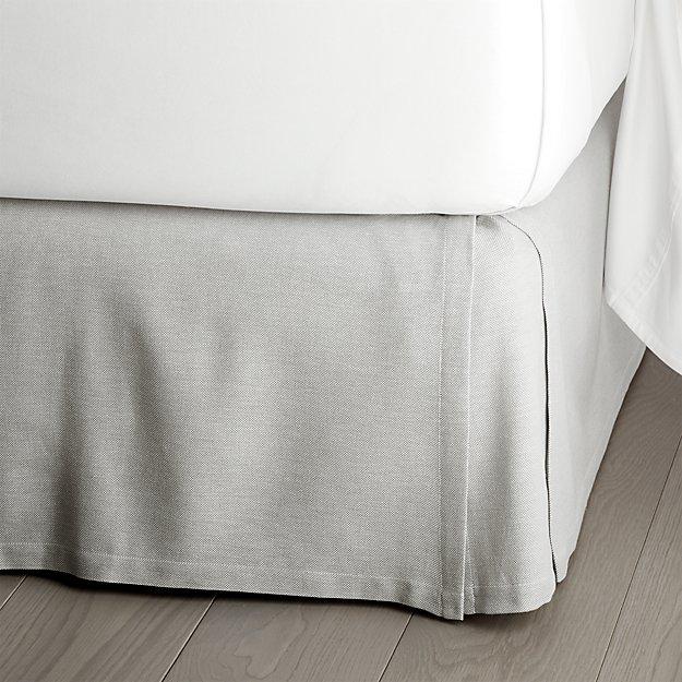 """Paloma Grey 15"""" Bedskirt"""