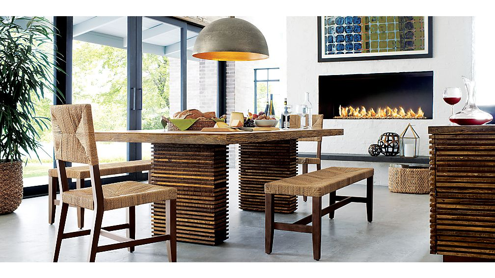 paloma ii reclaimed wood dining table | crate and barrel