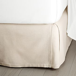 "Paloma Natural 15"" King Bedskirt"