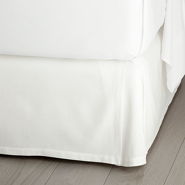 "Paloma White 15"" King Bedskirt"