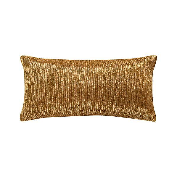 """Panache Gold 16""""x8"""" Pillow"""