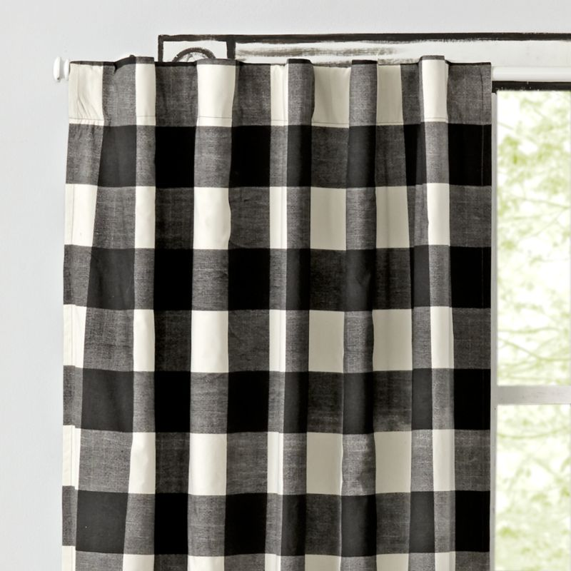Black Buffalo Check 84 Quot Blackout Curtain Reviews Crate