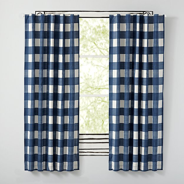 Blue Buffalo Check Curtains