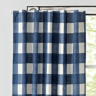 check room buffalo for living or plaid curtains new drapes the navy blue draperies