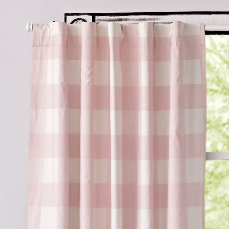 Pink Buffalo Check 84 Quot Blackout Curtain Reviews Crate