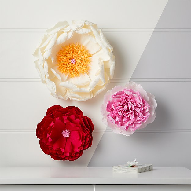 Paper Flowers Set Of 3 Reviews Crate And Barrel