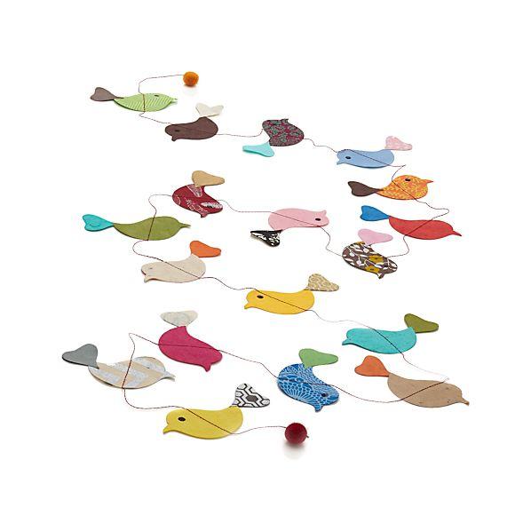 Paper Birds Garland