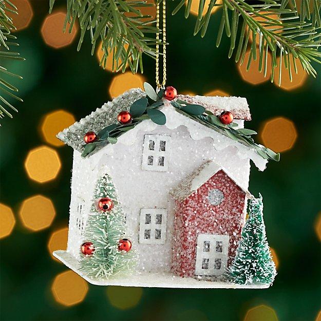 White Paper House Ornament