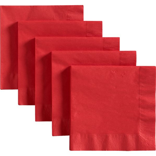 Red Luncheon Napkins Set of 50