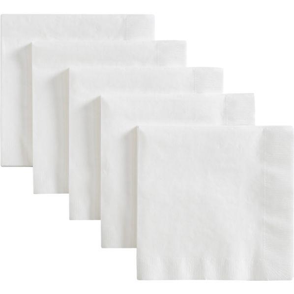 White Luncheon Napkins Set of 50
