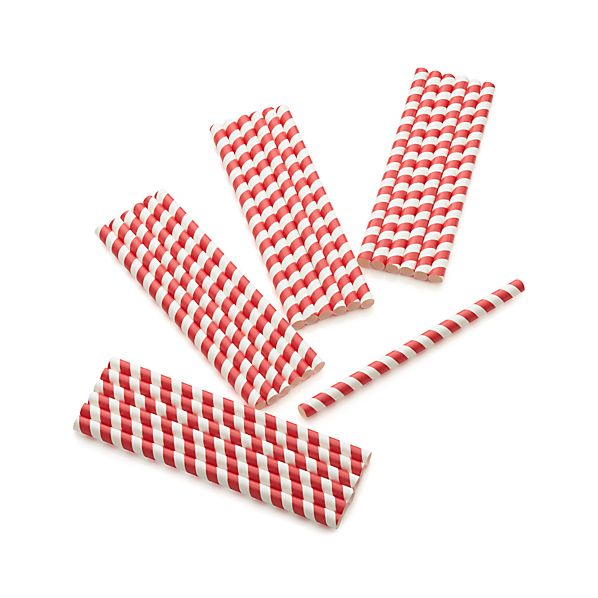 Set of 25 Paper Shake Straws