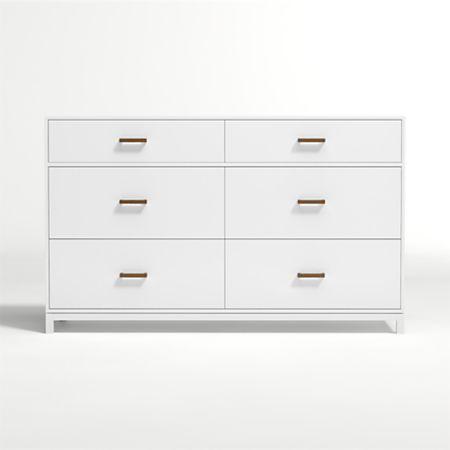 Kids Parke White 6 Drawer Dresser
