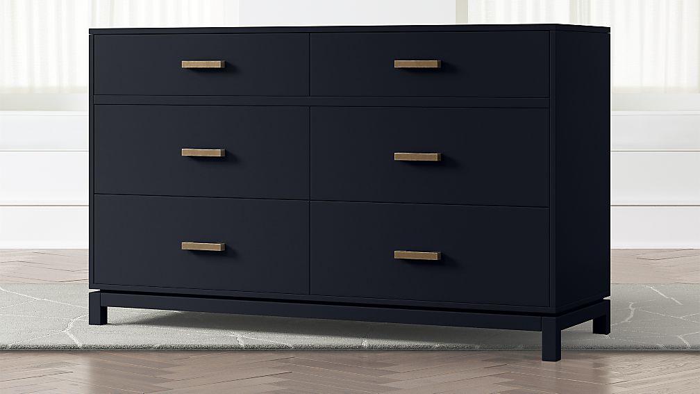 Kids Parke Navy Blue 6-Drawer Dresser - Image 1 of 5