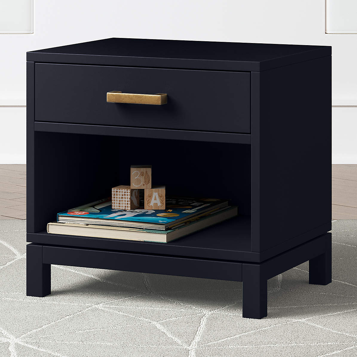 Kids Parke Navy Blue Nightstand Reviews Crate And Barrel