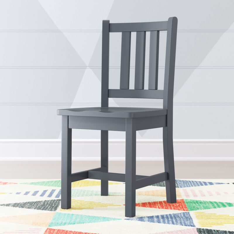 Parker Charcoal Grey Kids Desk Chair Reviews Crate And