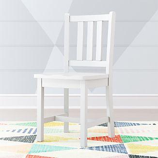 Parker White Kids Desk Chair
