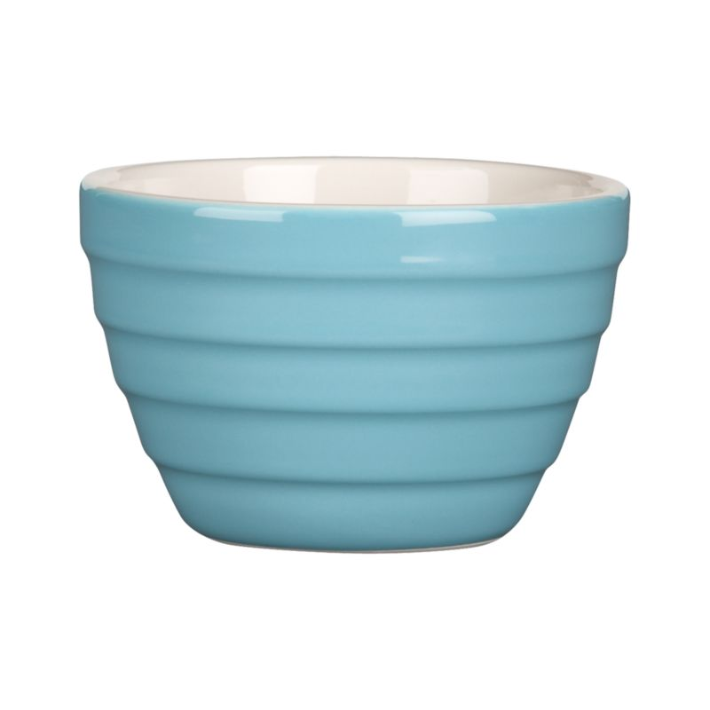 """Our popular """"stepped"""" Parker bowl goes mini for kitchen prep, doling out snacks or dishing up ice cream, berries, pudding and more.<br /><br /><NEWTAG/><ul><li>High-fired earthenware</li><li>Dishwasher- and microwave-safe on low settings</li></ul>"""