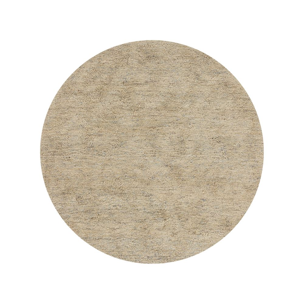 Parker Neutral 6' Round Rug - Crate and Barrel