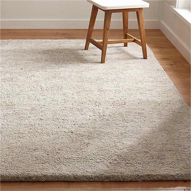 Parker Neutral Wool Rug - Image 1 of 9