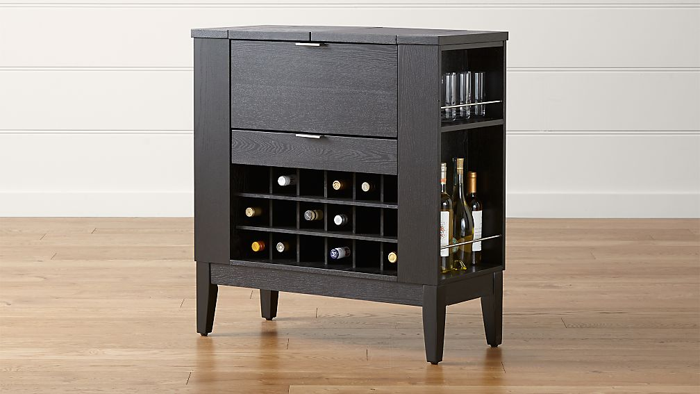 parker spirits ebony cabinet + reviews | crate and barrel