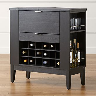 parker spirits ebony cabinet - Liquor Cabinet Furniture