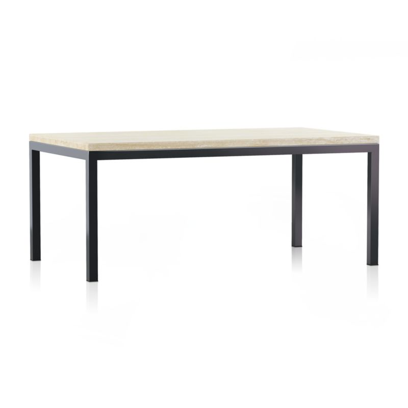 Dark Steel Base 72x42 Dining Table