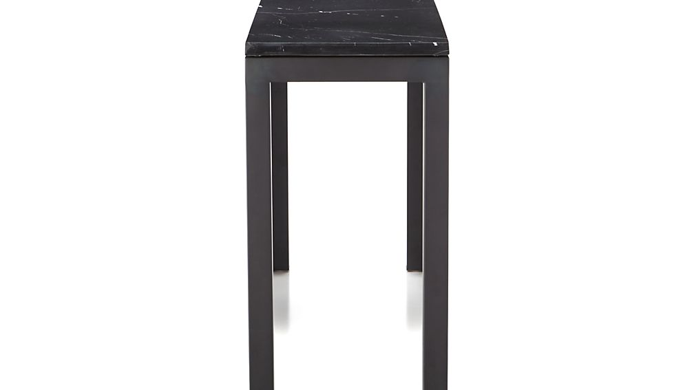 Parsons Black Marble Top/ Dark Steel Base 48x16 Console