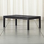 Parsons Black Marble Top/ Dark Steel Base 48x28 Small Rectangular Coffee Table