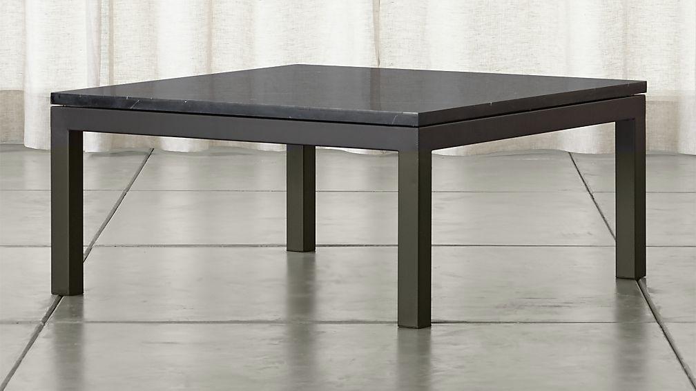 black square coffee table Parsons Black Marble Top/ Dark Steel Base 36x36 Square Coffee  black square coffee table