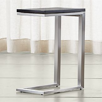Parsons Black Marble Top/ Stainless Steel Base 20x12 C Table