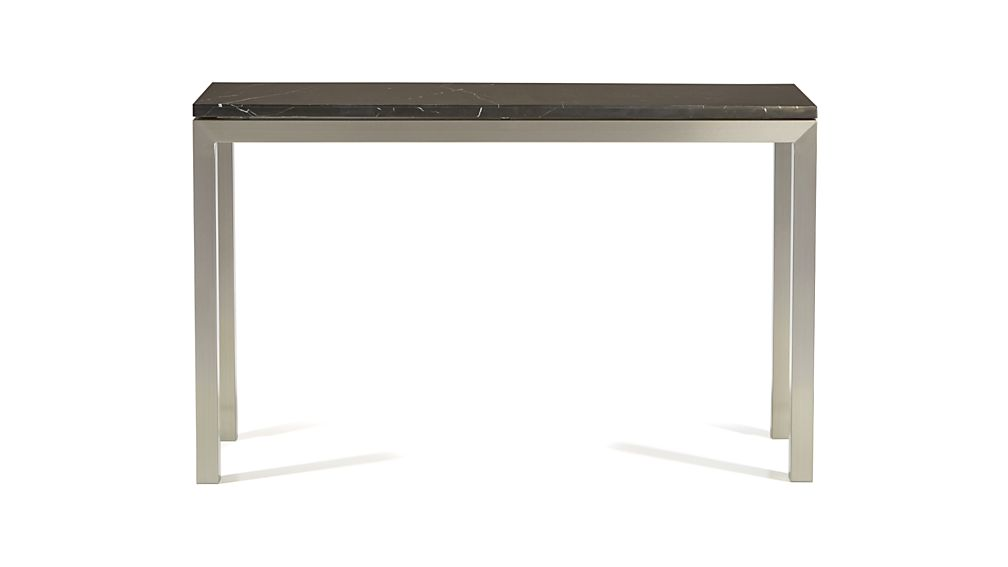 Parsons Black Marble Top/ Stainless Steel Base 48x16 Console