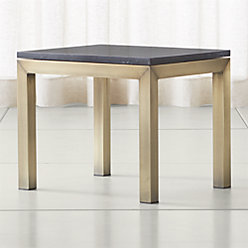 Parsons Black Marble Top Brass Base 48x28 Small