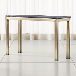 Parsons Black Marble Top/ Brass Base 48x16 Console