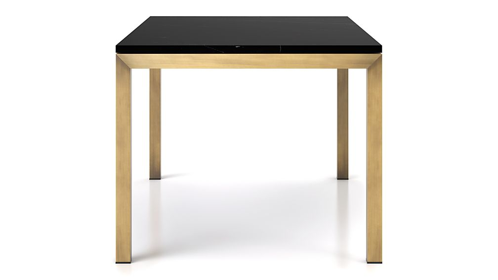 Parsons Black Marble Top/ Brass Base 72x42 Dining Table