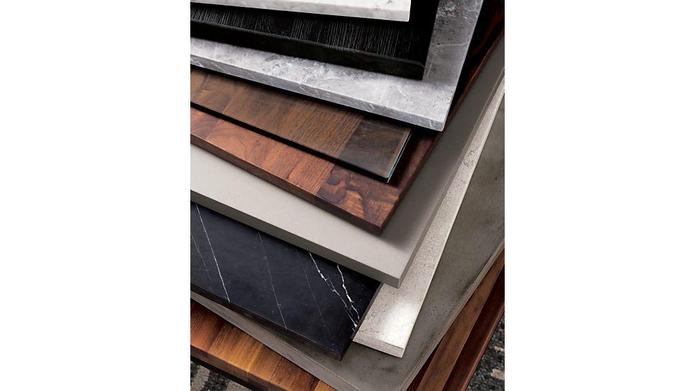 Parsons Black Marble Top/ Dark Steel Base 48x28 Small Rectangular Coffee Table