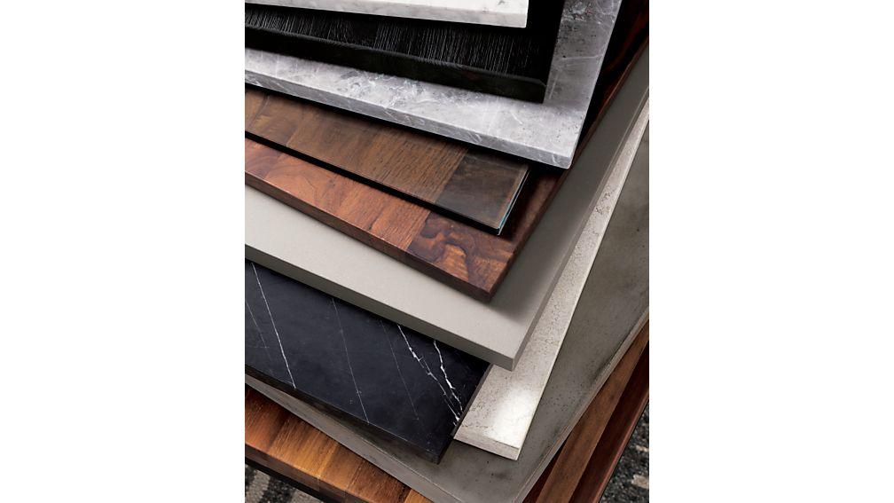 Parsons Black Marble Top/ Dark Steel Base 48x16 Console