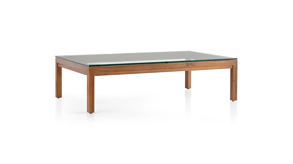 Parsons clear glass top elm base 60x36 large rectangular for Glass top dining table 36 x 60